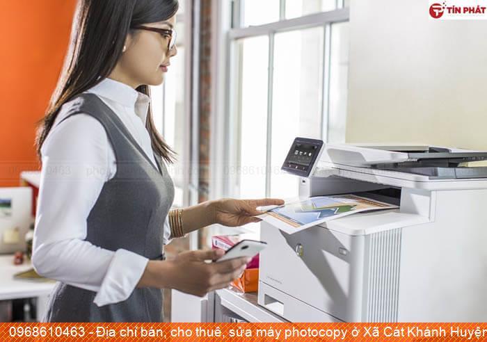 Địa chỉ bán, cho thuê, sửa máy photocopy ở Xã Cát Khánh Huyện  Phù Cát chất lượng